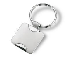 Kovový přívěšek na klíče RUDY - stříbrná