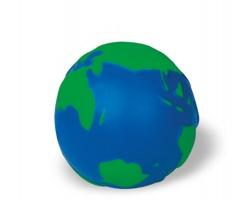 Antistresový míček JAY s motivem globusu - modrá / zelená