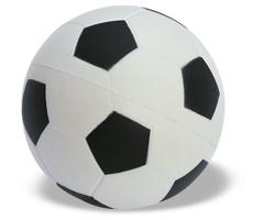 Antistresový míček BRAXY s motivem fotbalového míče - vícebarevné