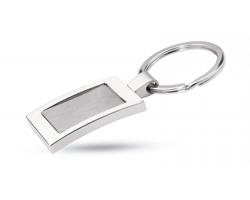 Luxusní přívěšek na klíče FRAME - lesklá stříbrná