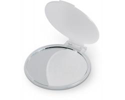 Plastové kosmetické zrcátko HELENA na make-up - transparentní bílá