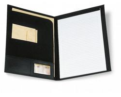 Konferenční desky PACEY, A4 s poznámkovým blokem - černá