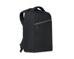 Batoh z RPET materiálu YESES s prostorem na notebook - černá