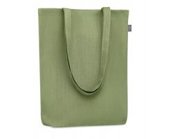Látková nákupní taška z konopí HALLOW - zelená