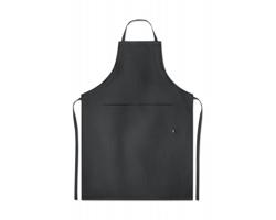 Kuchyňská zástěra z konopí WAXY - černá