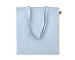 Látková nákupní taška FLUB z bio bavlny - nebesky modrá