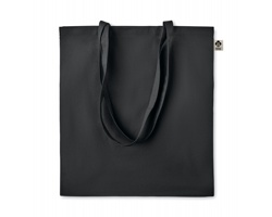 Látková nákupní taška FLUB z bio bavlny - černá