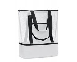 Síťovaná nákupní taška DIST z recyklovaného materiálu - bílá