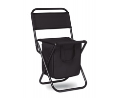 Skládací židlička IGLOO s chladicím úložným prostorem - černá