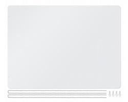 Plastová ochranná bariéra HOLD s řetízky pro zavěšení - transparentní