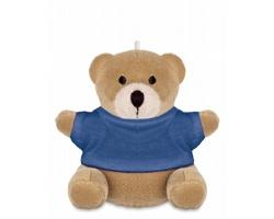 Plyšový medvídek BARON jako přívěsek na klíče - modrá