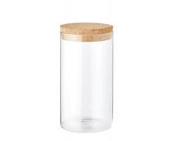 Skleněná dóza na potraviny KYPE s korkovým víčkem, 600 ml - transparentní