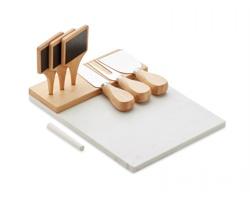 Mramorový servírovací talíř LANIE - dřevěná