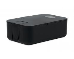 Plastová obědová krabička WORK, 1 l - černá