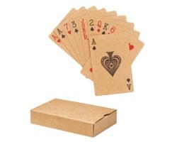Hrací karty BRAW z recyklovaného papíru - béžová