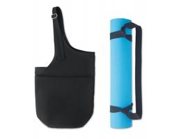 Sada na cvičení jógy TOPIC v plátěné tašce - černá