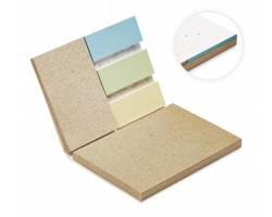 Sada lístků na poznámky INFO s obalem z papíru se semínky rostlin - bílá