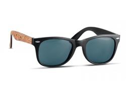 Plastové sluneční brýle POSH s korkovými nožičkami - černá