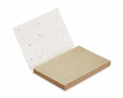 Sada lístků na poznámky BLESS s obalem z papíru se semínky rostlin - bílá