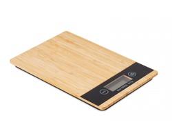 Bambusová kuchyňská digitální váha KURSAAL - dřevěná