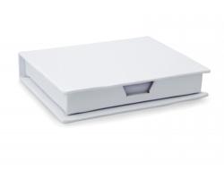 Sada barevných lepicích papírků TERA v papírové krabičce - bílá