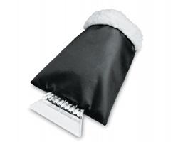 Plastová škrabka BABETTE na okna s rukavicí - černá