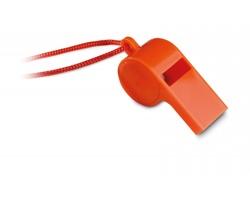 Plastová píšťalka JAPED se šňůrkou - oranžová