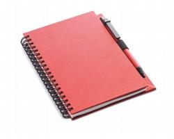 Ekologický zápisník SLANG s kuličkovým perem, formát A5 - červená