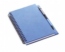 Ekologický zápisník SLANG s kuličkovým perem, formát A5 - modrá