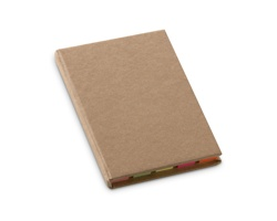 Ekologické barevné lepicí bločky SABRA v papírových deskách, 200 ks - béžová