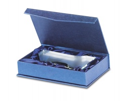 Skleněná trofej SEAM ve tvaru jedničky - transparentní