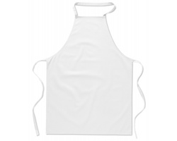 Bavlněná zástěra na vaření LATHY - bílá