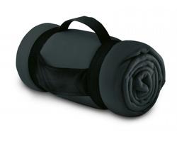Fleecová deka CASEVILLE s rukojetí - šedá