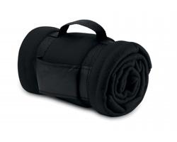 Fleecová deka CASEVILLE s rukojetí - černá