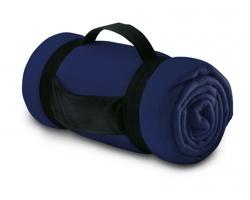 Fleecová deka CASEVILLE s rukojetí - modrá