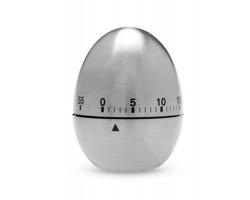 Nerezový časovač OLEG ve tvaru vejce - matně stříbrná