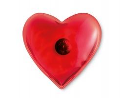 Plastový ohřívač rukou PATRICIA ve tvaru srdce - červená
