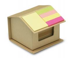 Ekologická sada bločků ERVIN v papírové krabičce ve tvaru domku - béžová