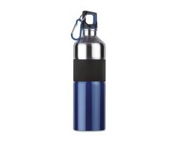 Nerezová láhev na pití TIERA s karabinou, 750ml - modrá