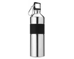 Nerezová láhev na pití TIERA s karabinou, 750ml - matně stříbrná