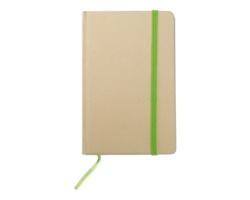 Recyklovaný zápisník NOWAY, formát A6 - limetková