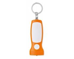 Plastová klíčenka BATE se světlem - oranžová