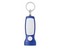 Plastová klíčenka BATE se světlem - královská modrá