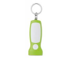 Plastová klíčenka BATE se světlem - limetková