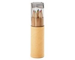 Barevné dřevěné tužky RAMENTA s ořezávátkem - transparentní šedá