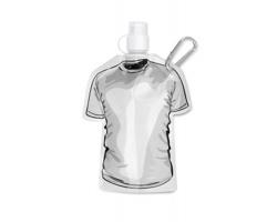 Skládací láhev SHIRT ve tvaru trička - bílá