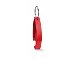 Kovový otvírák ALTAR s kroužkem na klíče - červená