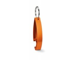 Kovový otvírák ALTAR s kroužkem na klíče - oranžová