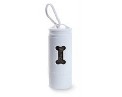 Plastový zásobník sáčků na psí exkrementy PICKEREL s LED svítilnou - bílá
