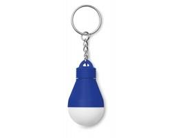 Svítící klíčenka INTUIT ve tvaru žárovky - královská modrá